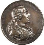 1805 Washington Eccleston Medal. Bronzed Copper. 75.9 mm. By Thomas Webb, for Daniel Eccleston. Musa