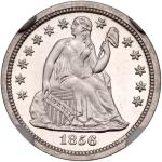 1856 Liberty Seated Dime. NGC PF66
