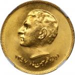 IRAN. Epidemic of 1831 Gold Medal, SH 1347 (1968). NGC MEDAL MS-66.