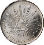 MEXICO. 8 Reales, 1891-Zs FZ. Zacatecas Mint. NGC MS-65.