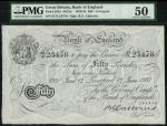 Bank of England, B.G. Catterns, £50, Liverpool 12 June 1931, prefix 61X, black and white, ornate cro