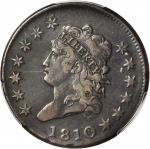 1810 Classic Head Cent. S-284. Rarity-3. VF Details--Environmental Damage (PCGS).