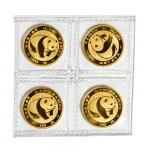 1983年熊猫纪念金币四枚