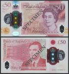 2021英格兰银行50镑AA01 000011 完未流通 Bank of England £50 23 June 2021