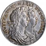 GREAT BRITAIN. 1/2 Crown, 1689. William & Mary (1689-94). PCGS AU-55 Secure Holder.