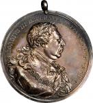 1814 George III Indian Peace Medal. Silver. Large Size. 75.7 mm. 1888.9 grains. Adams 12.1. Choice E