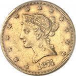 USA République fédérale des États-Unis d'Amérique (1776-à nos jours). 10 dollars Liberty 1874, CC, C