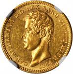 ITALY. Sardinia. 10 Lire, 1844-P. Genoa Mint. Carlo Alberto. NGC MS-63.