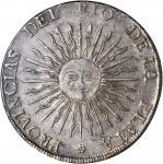 ARGENTINA. 8 Soles, 1815-PTS FL. NGC AU-55.