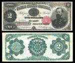 Fr.357. $2. Federal Reserve Bank Note. 1918. McPherson, right. Red seal. No.B83633254. Tillman Morga