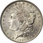 1884 Morgan Silver Dollar. MS-67 (PCGS). CAC. OGH.