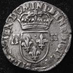 FRANCE Henry IV アンリ4世 (1589~1610) 1/4Ecu 1602  返品不可 要下见 Sold as is No returns 縁に平金破损 F+