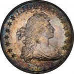 1801 Draped Bust Silver Dollar. Bowers Borckardt-214, Bolender-4. Rarity-4. Mint State-65 (PCGS).