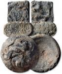西汉白金三品马币、龟币、龙币一套3枚 极美品