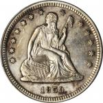 1859-S Liberty Seated Quarter. Briggs 1-A, the only known dies. AU-58 Details--Cleaned (ICG).