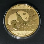 2016年熊猫纪念金币100克 完未流通
