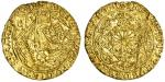 Edward IV 1﨎t reign (1461-70), Half-Ryal, class VIa, 3.81g, mm. sun, e/dward di gra rex ang / z fran