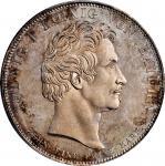 GERMANY. Bavaria. Taler, 1827. Munich Mint. Ludwig I. PCGS MS-65 Prooflike Gold Shield.
