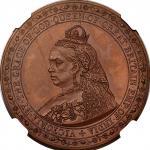 英国 (Great Britain) ヴィクトリア女王像 スピンク・パターン 1クラウン試鋳銅貨 1887年 ESC2685 / Victoria Spink Pattern 1 Crown Copp