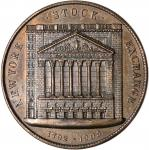 1903 New York Stock Exchange Building. Bronze. 38 mm. HK-298. Rarity-6. MS-62 BN (NGC).