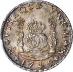 MEXICO. 8 Reales, 1749-MF. Ferdinand VI (1746-59). PCGS MS-64 Secure Holder.