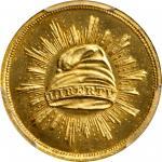 1836 Pattern Gold Dollar. Judd-67, Pollock-70. Rarity-5. Gold. Plain Edge. Proof-66+ Cameo (PCGS). C