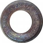 1852 (ca. 1859) Pattern and Experimental Coins. Pattern Annular, or Ring-Form Gold Dollar. Judd-147,