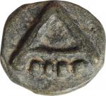 ITALY. Apulia. Asculum. AE Aes Grave Quadrunx (36.31 gms), ca. 217-212 B.C. NEARLY EXTREMELY FINE.