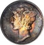 1917 Mercury Dime. MS-67 FB (NGC). OH.