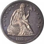 1852 Liberty Seated Silver Dollar. OC-P2. Rarity-7+. Proof-64 Cameo (NGC). CAC.