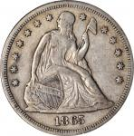 1865 Liberty Seated Silver Dollar. OC-2. Rarity-2. EF-45 (NGC).