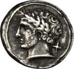 Etruscan Coins, Etruria, Populonia. AR 10-Asses, 3rd century BC. Vecchi EC I, 70 (O1), HN Italy 168,
