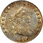 1805 Draped Bust Half Dollar. O-106, T-13. Rarity-3+. EF-40 (PCGS).