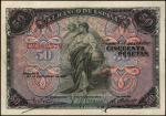 SPAIN. El Banco de Espana. 50 Pesetas, 1906. P-58a. Fine.