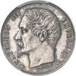 FRANCE Second Empire / Napoléon III (1852-1870). Essai de 20 centimes tête nue, grosse tête, frappe