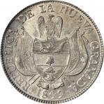 COLOMBIA. 1849 10 Reales. Bogotá mint. Restrepo 196.5. MS-62 (PCGS).