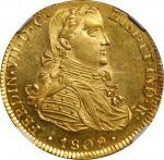 MEXICO. 8 Escudos, 1809-Mo HJ. Mexico City Mint. Ferdinand VII. NGC MS-63★.
