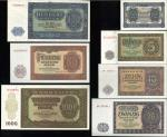 GERMANY Democratic Rep 东ドイツ Lot of Federal  Rep Deutsch Banknote 1948~55 返品不可 要下见 Sold as is No retu