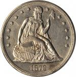 1872 Liberty Seated Silver Dollar. OC-4. Rarity-2. Unc Details--Cleaned (PCGS).