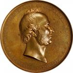 1865 Cornelius Vanderbilt National Gratitude Medal. By Salathiel Ellis and Emanuel Leutze. Julian PE