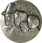 1976 Mayflower Medal. Silver. 73 mm. 260.5 grams. 999 fine. By Anthony Notaro. Alexander-SOM 94. Edg