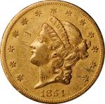 1854-S Liberty Head Double Eagle. Extremely Fine, Graffiti (Uncertified).