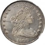 1800 Draped Bust Silver Dollar. BB-196, B-17. Rarity-1. 12 Arrows. EF-40 (NGC).