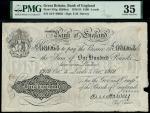 Bank of England, Ernest Musgrave Harvey (1918-1925), 100, Leeds, 3 October 1919, serial number 34/Y