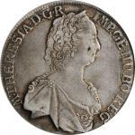 AUSTRIA. Taler, 1763. Hall Mint. Maria Theresa. PCGS EF-45 Gold Shield.
