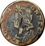 1785 Connecticut Copper. Miller 7.2-D, W-2445. Rarity-6-. Bust Left. Fine Details--Environmental Dam