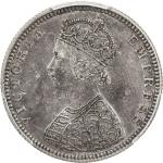 BRITISH INDIA: Victoria, Empress, 1876-1901, AR ½ rupee, 1882(b), KM-491, cleaned and now retoned, N
