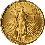 1908 Saint-Gaudens Double Eagle. No Motto. MS-64 (NGC).