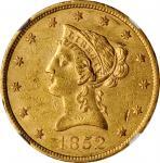 1852 Liberty Head Eagle. AU-55 (NGC).