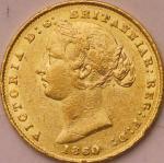 オーストラリア (Australia) ヴィクトリア女王像 1ソブリン金貨 1860年(SY) KM4 / Victoria 1 Sovereign Gold